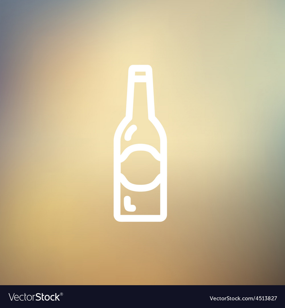 Light beer bottle thin line icon vector | Price: 1 Credit (USD $1)