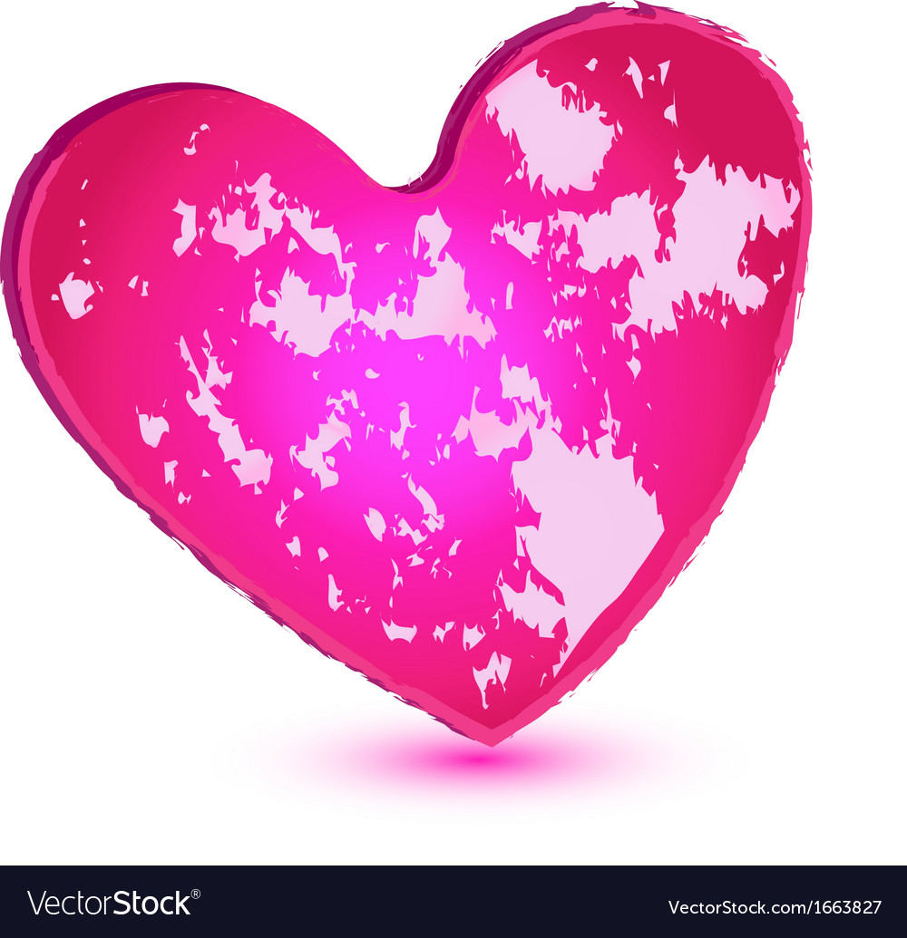 Pink grunge heart logo vector | Price: 1 Credit (USD $1)