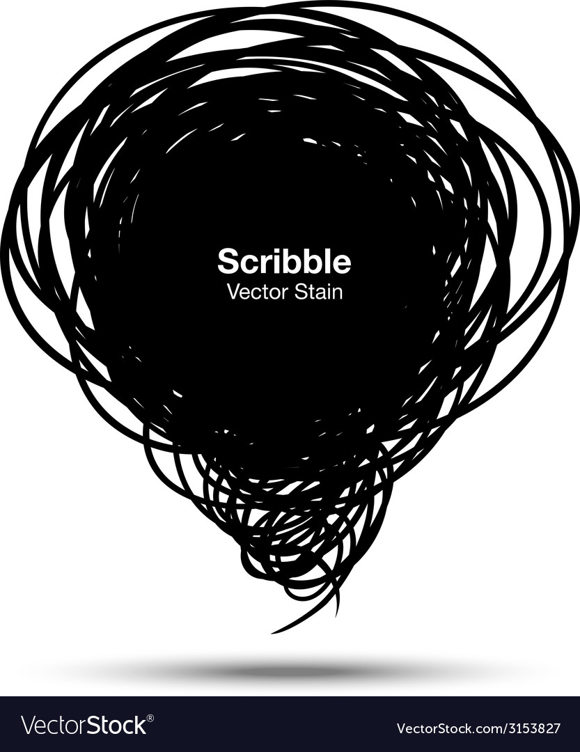 Scribble black bubble vector | Price: 1 Credit (USD $1)