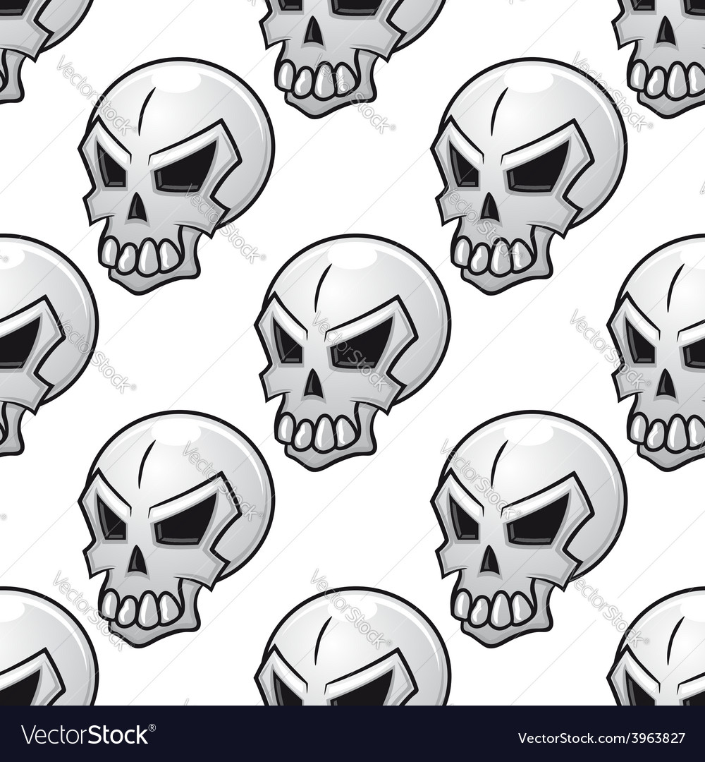 Seamless pattern with scary evil skull vector | Price: 1 Credit (USD $1)