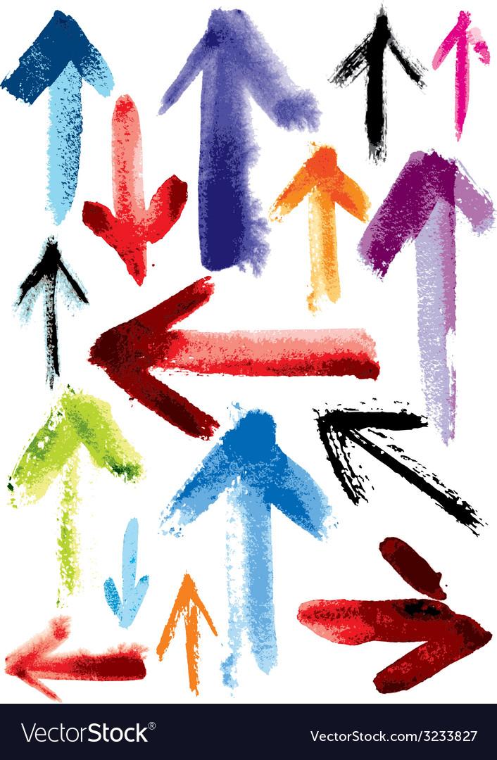 Set of grunge arrows vector | Price: 1 Credit (USD $1)
