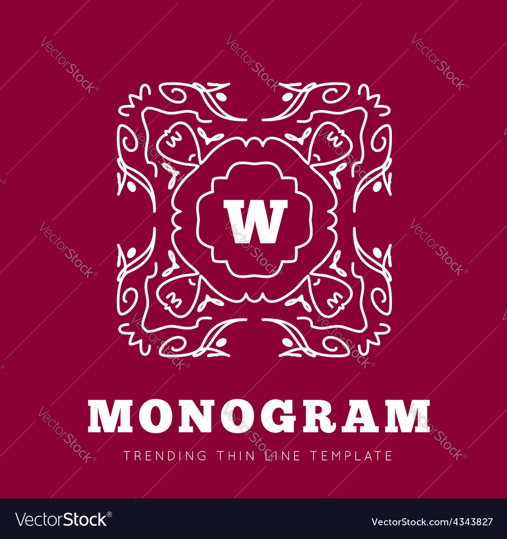 Simple and graceful monogram design template vector | Price: 1 Credit (USD $1)