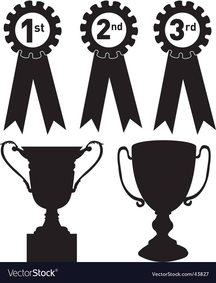 Trophies vector | Price: 1 Credit (USD $1)