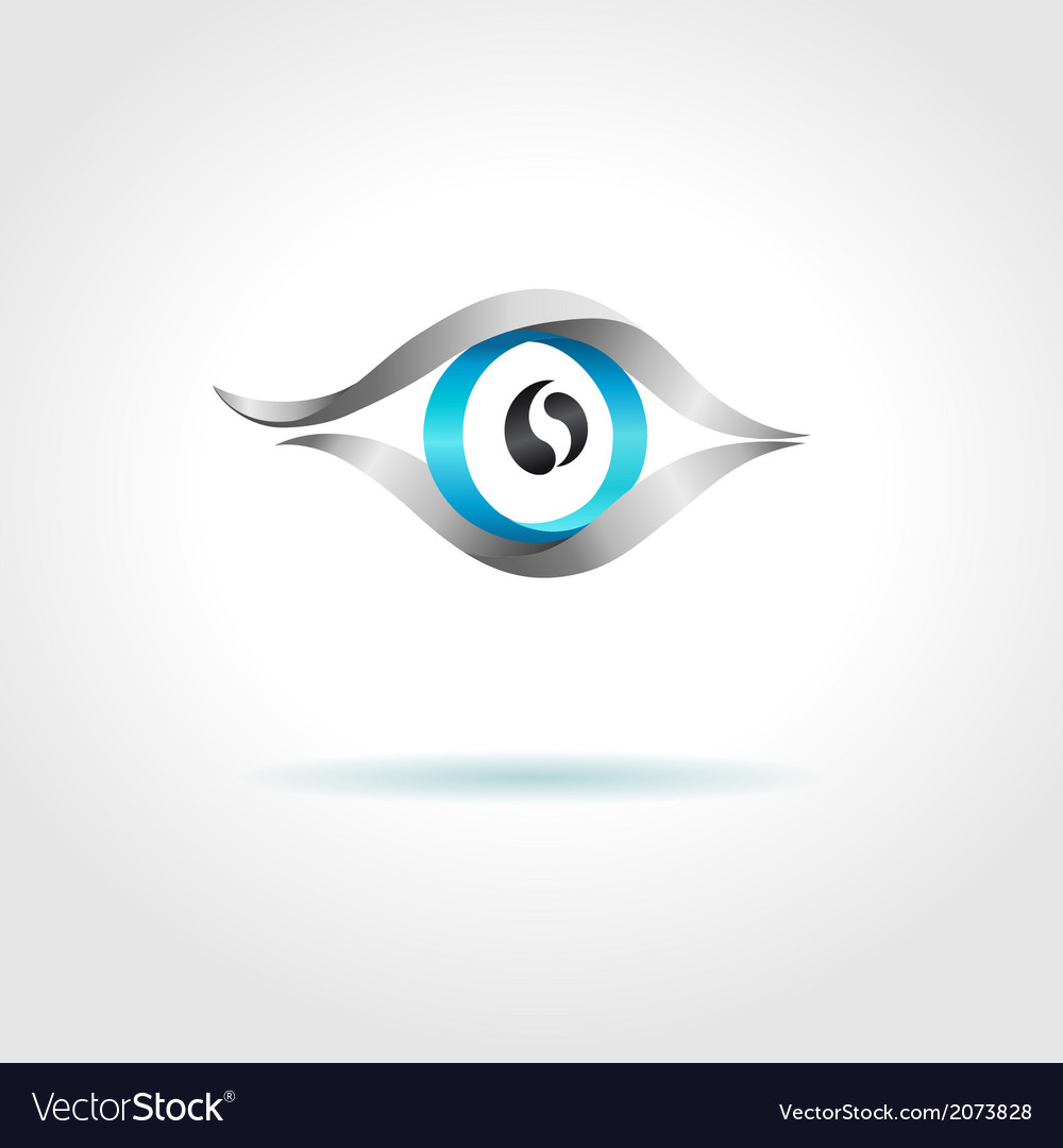 Abstract blue eye on gray background vector | Price: 1 Credit (USD $1)