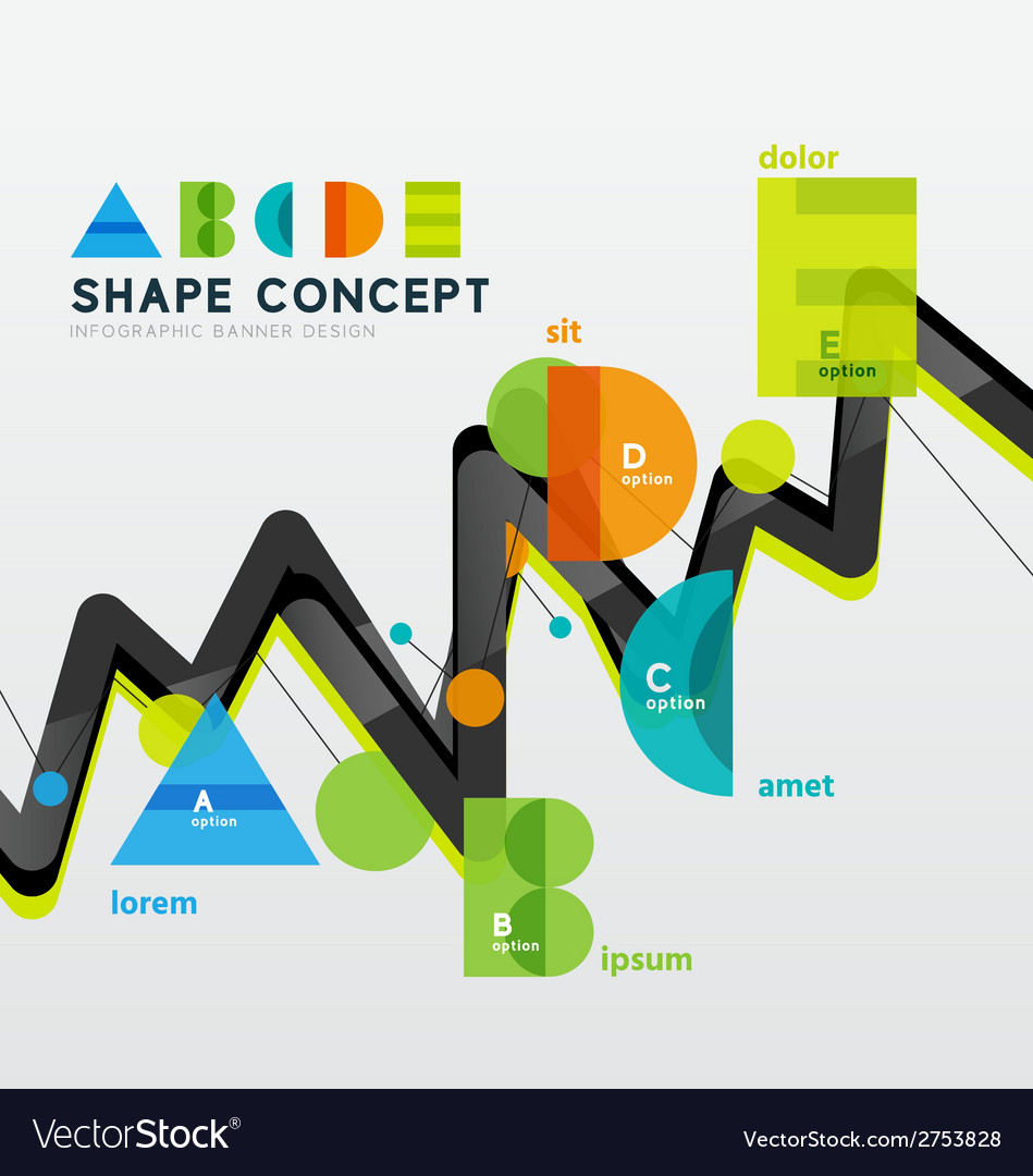 Business geometric infographic diagram layout vector | Price: 1 Credit (USD $1)