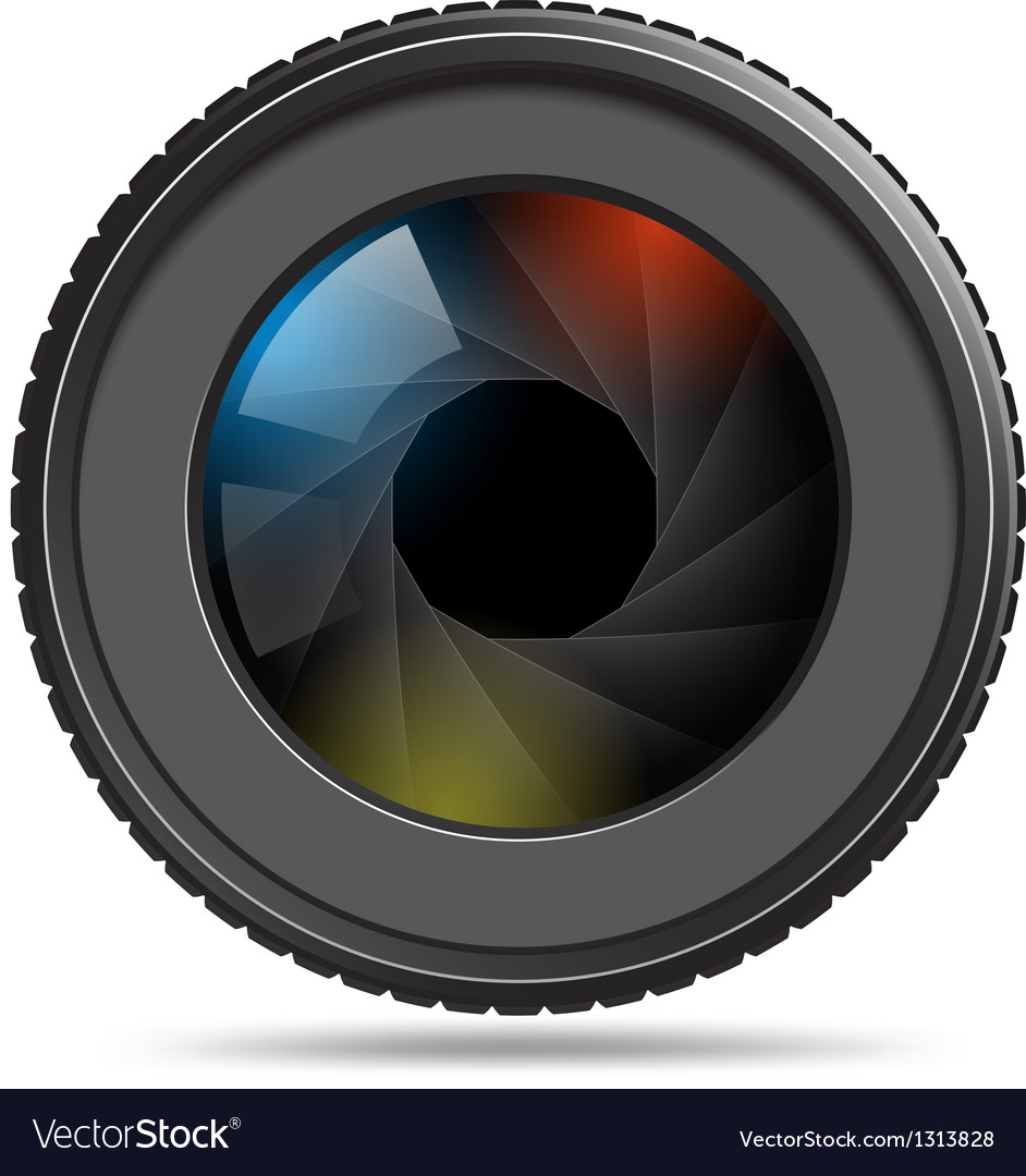 Camera photo lens with shutter vector | Price: 3 Credit (USD $3)