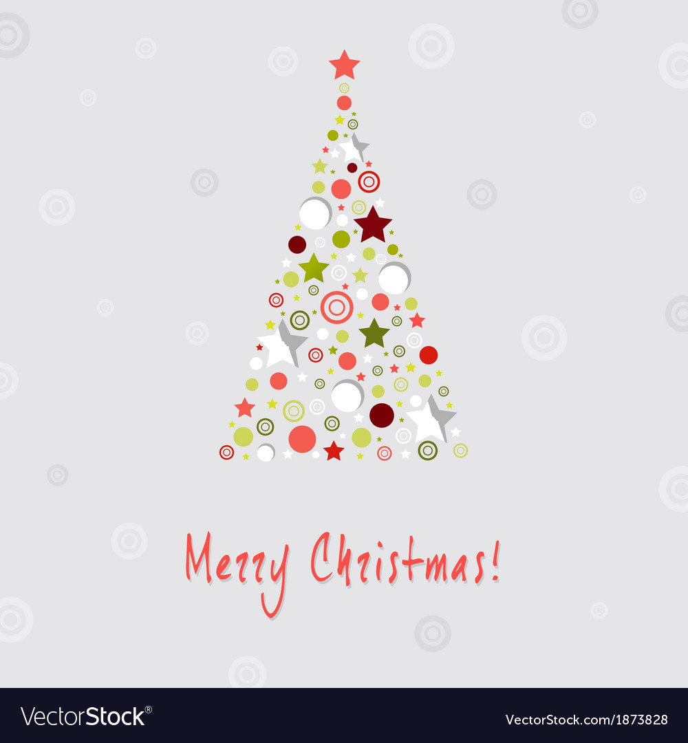 Christmas tree design greeting card vector   Price: 1 Credit (USD $1)