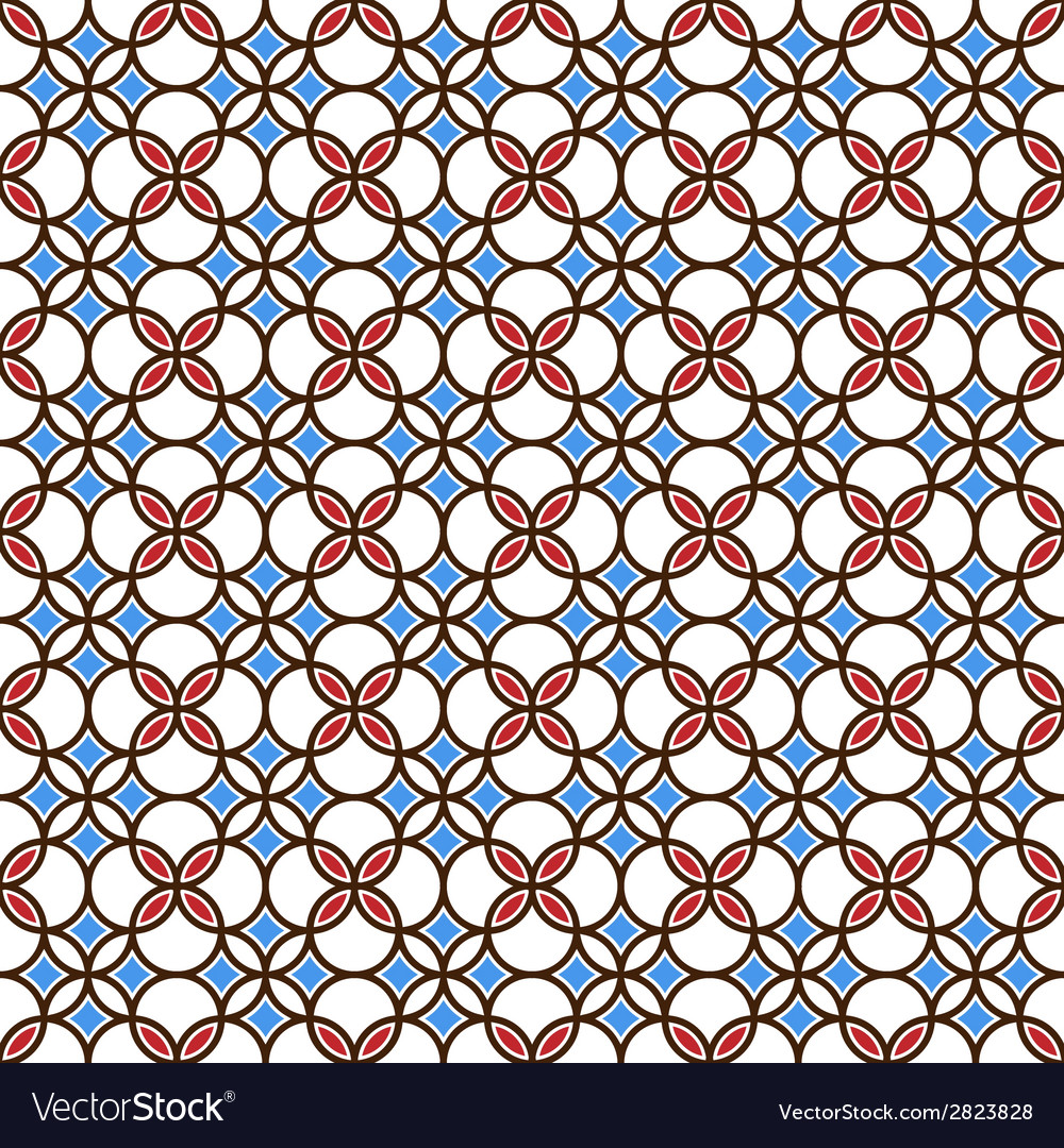 Colored seamless geometric pattern vector | Price: 1 Credit (USD $1)