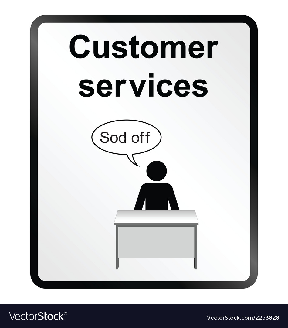 Customer services information sign vector | Price: 1 Credit (USD $1)