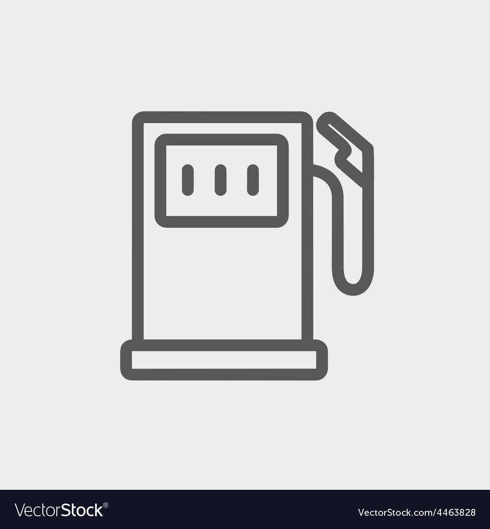 Gasoline pump thin line icon vector   Price: 1 Credit (USD $1)