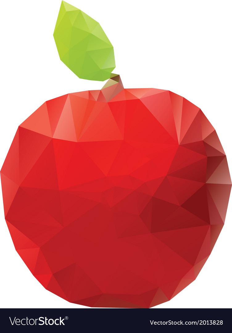 Geometric red apple vector | Price: 1 Credit (USD $1)
