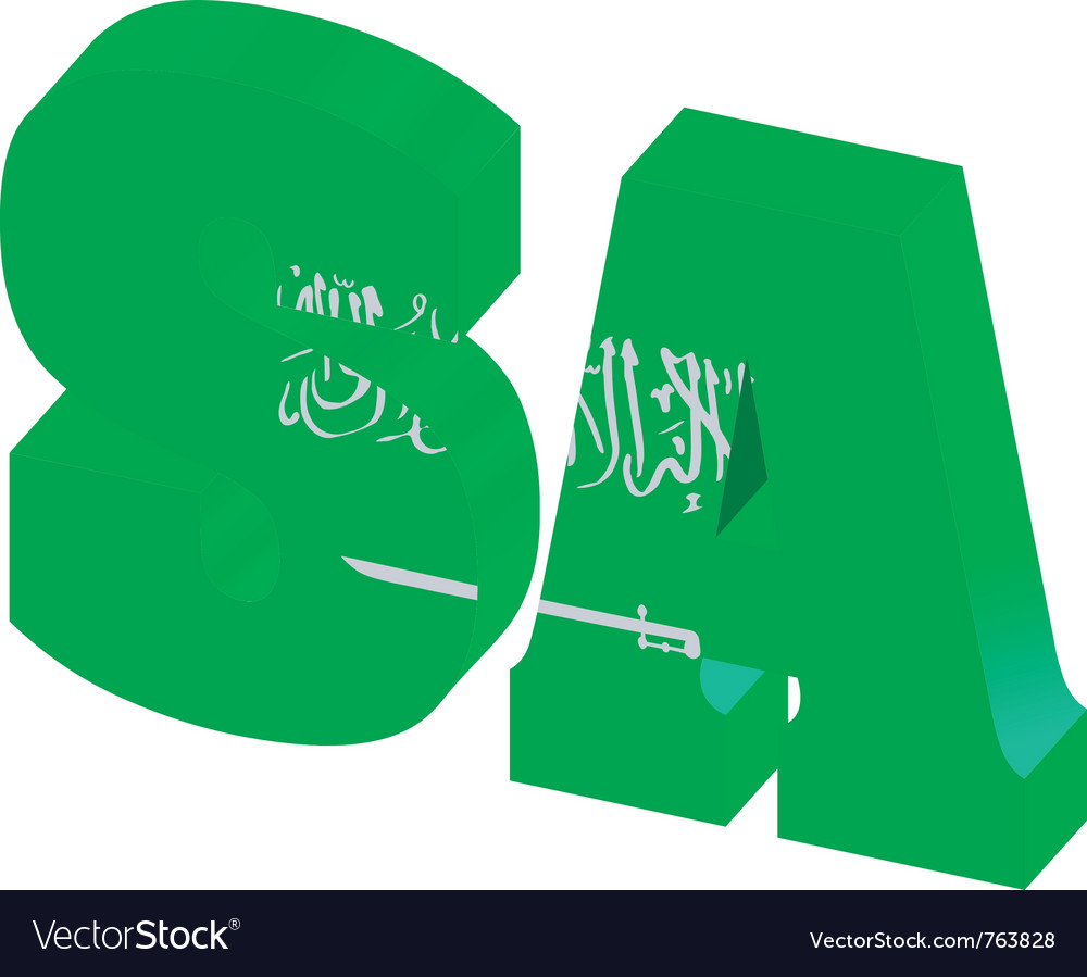 Internet top-level domain of saudi arabia vector | Price: 1 Credit (USD $1)