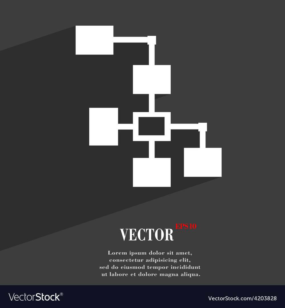 Local network icon symbol flat modern web design vector | Price: 1 Credit (USD $1)