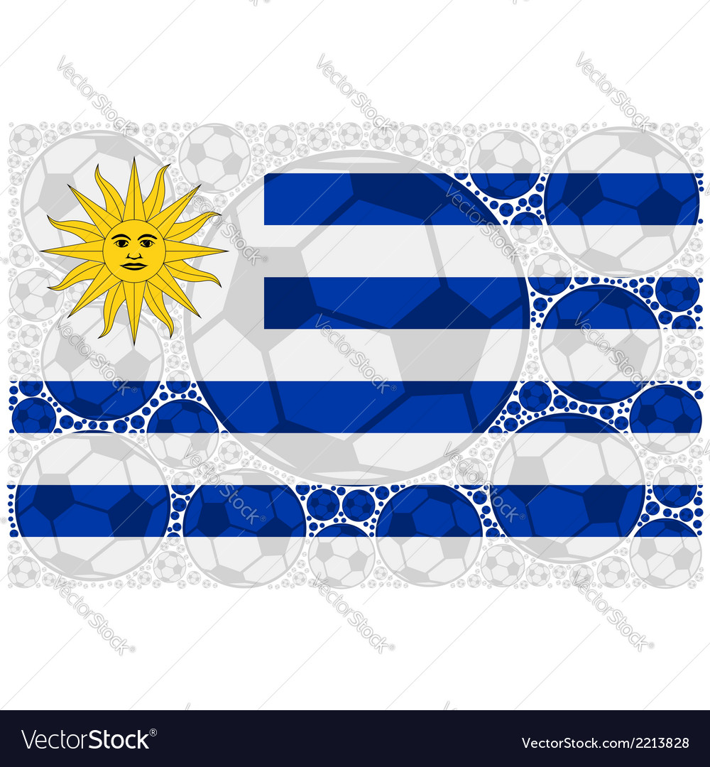 Uruguay soccer balls vector | Price: 1 Credit (USD $1)