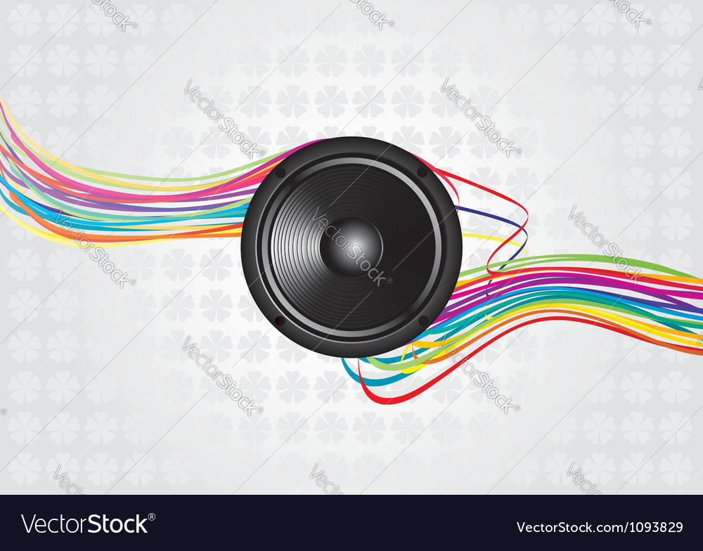Abstract music background design vector | Price: 1 Credit (USD $1)