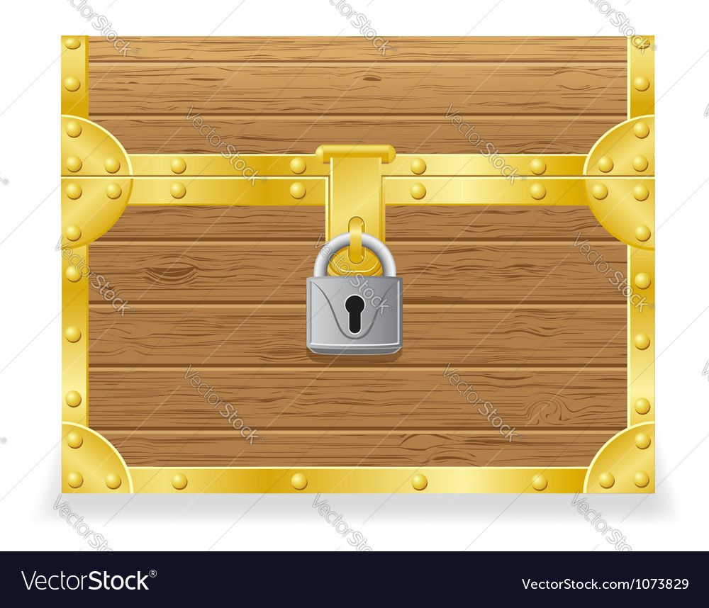 Closed antique chest vector | Price: 1 Credit (USD $1)