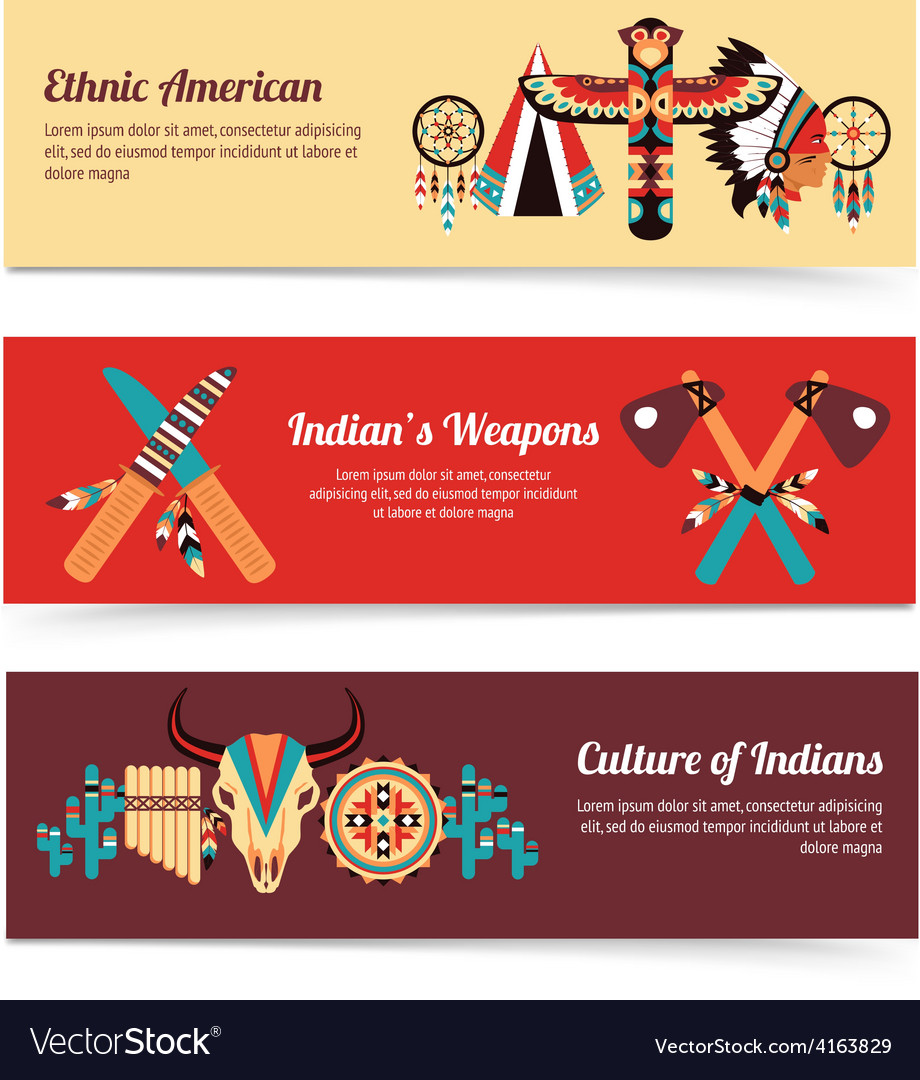 Ethnic design concept banners vector | Price: 3 Credit (USD $3)