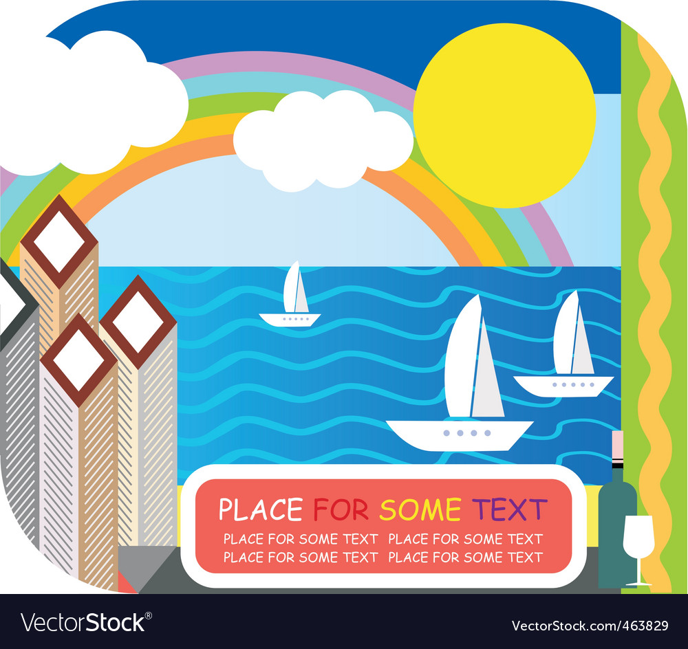 Sea resort vector | Price: 1 Credit (USD $1)
