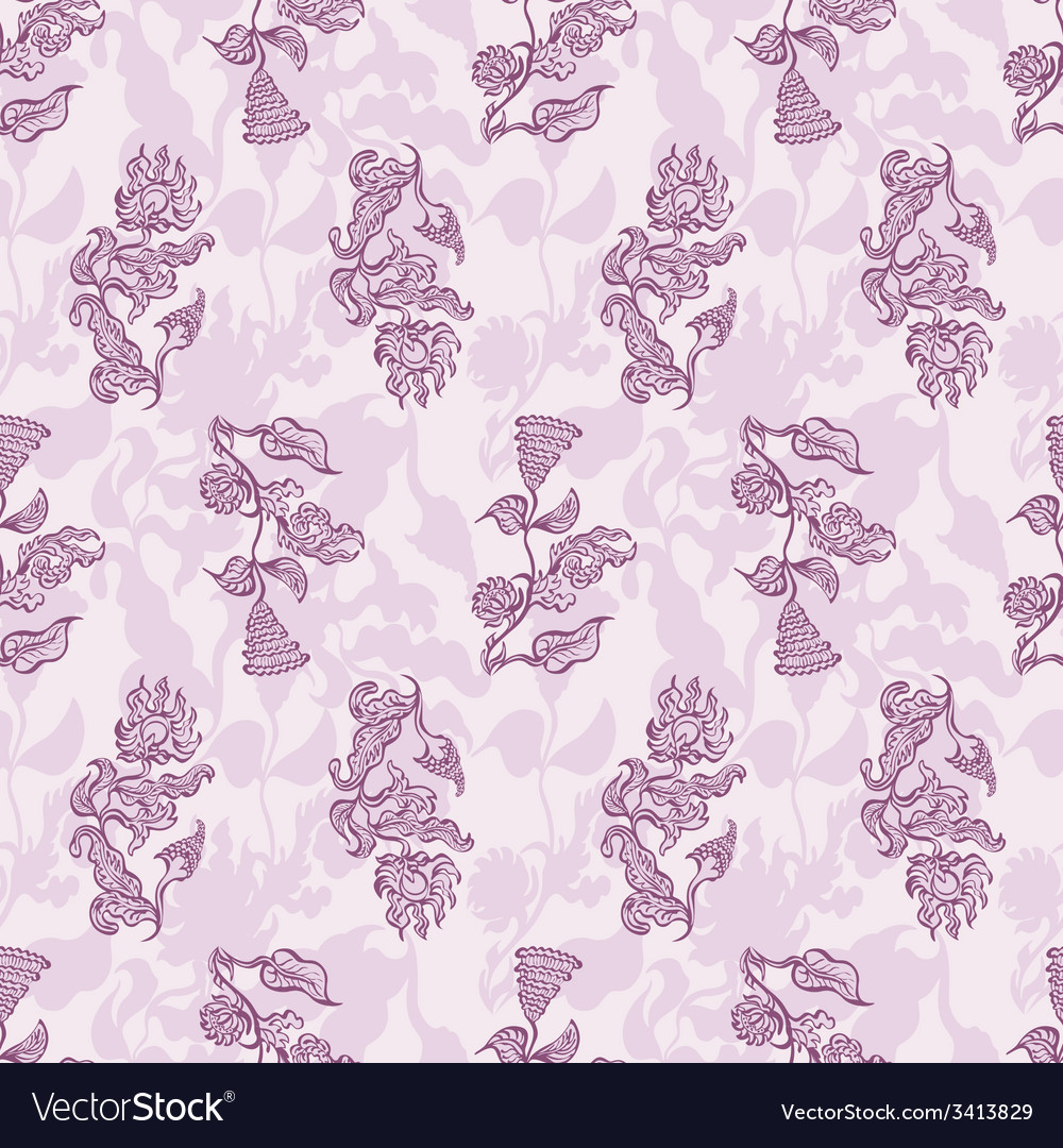 Seamless floral background flower vector | Price: 1 Credit (USD $1)