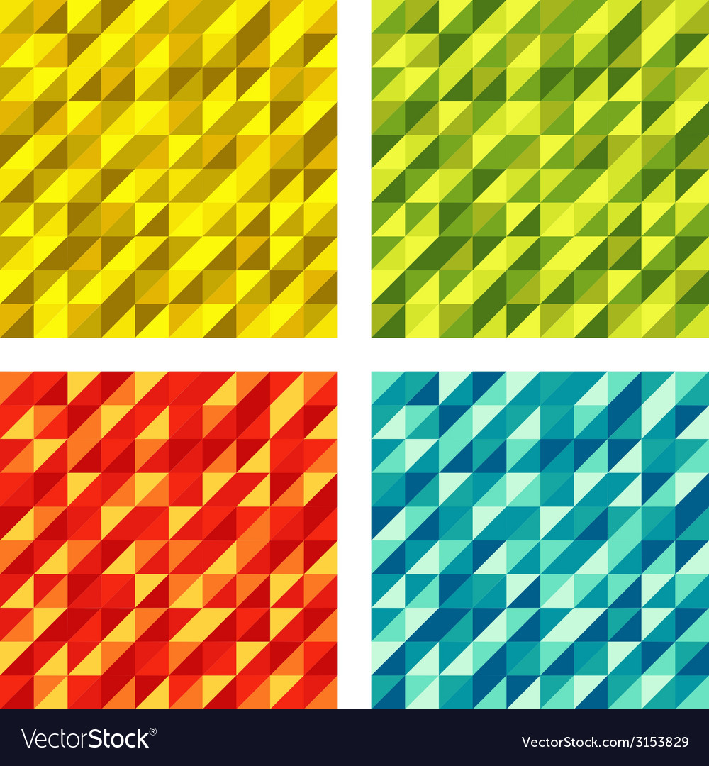 Set of colorful geometric textures raster vector | Price: 1 Credit (USD $1)
