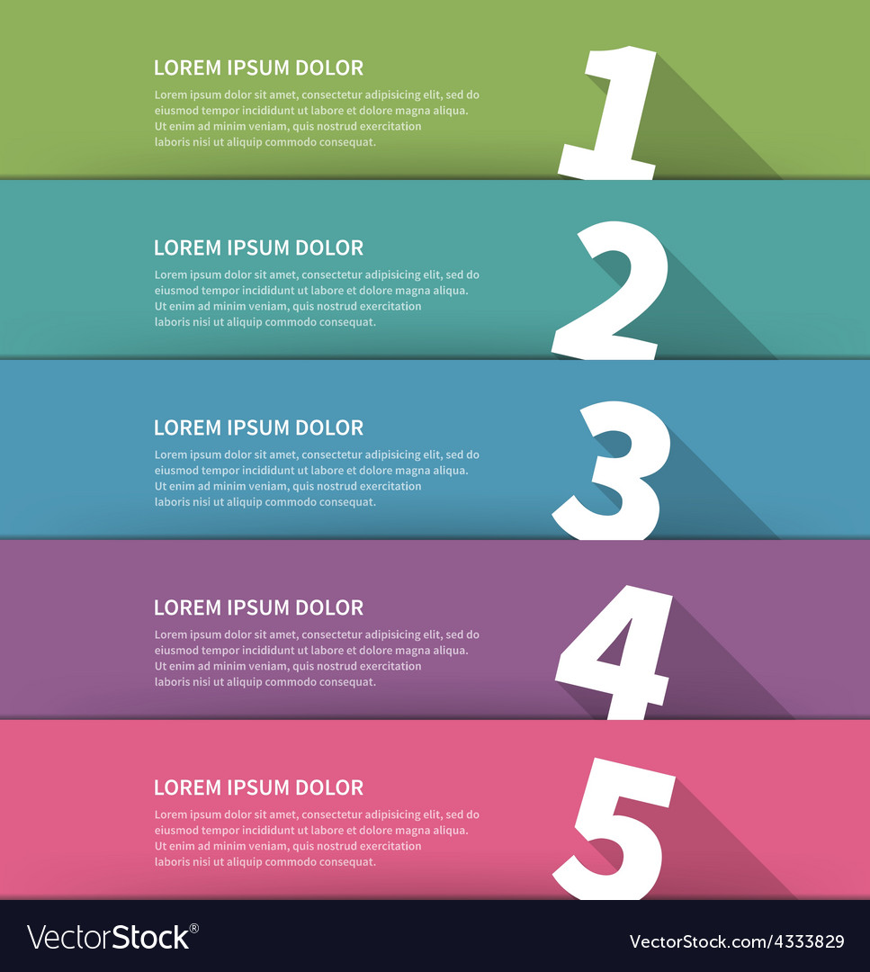 Simple geometric inforgraphic design vector | Price: 1 Credit (USD $1)