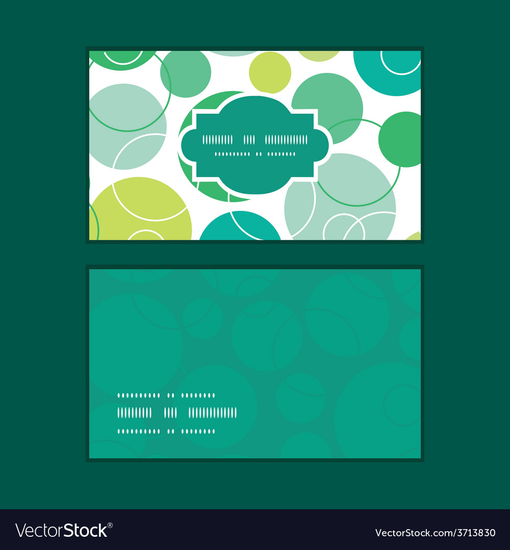 Abstract green circles horizontal frame vector | Price: 1 Credit (USD $1)