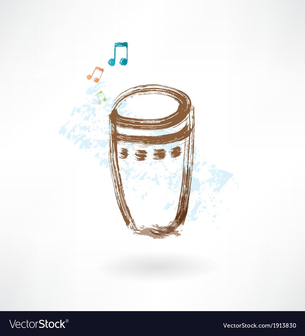 Bongo grunge icon vector | Price: 1 Credit (USD $1)
