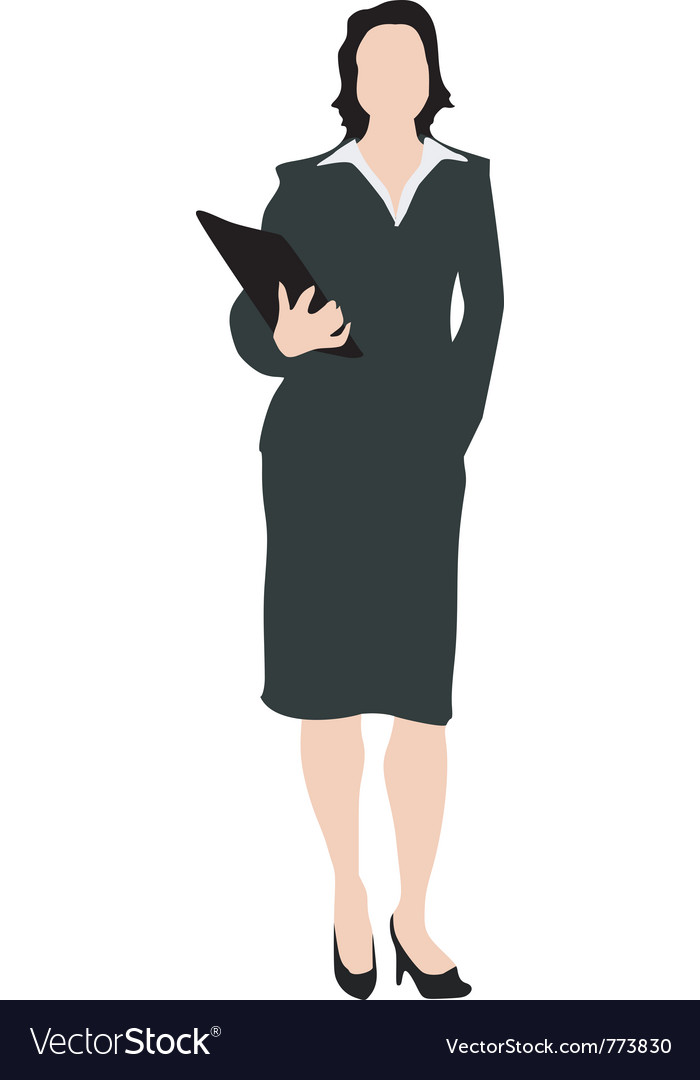 Business woman with folder vector | Price: 1 Credit (USD $1)