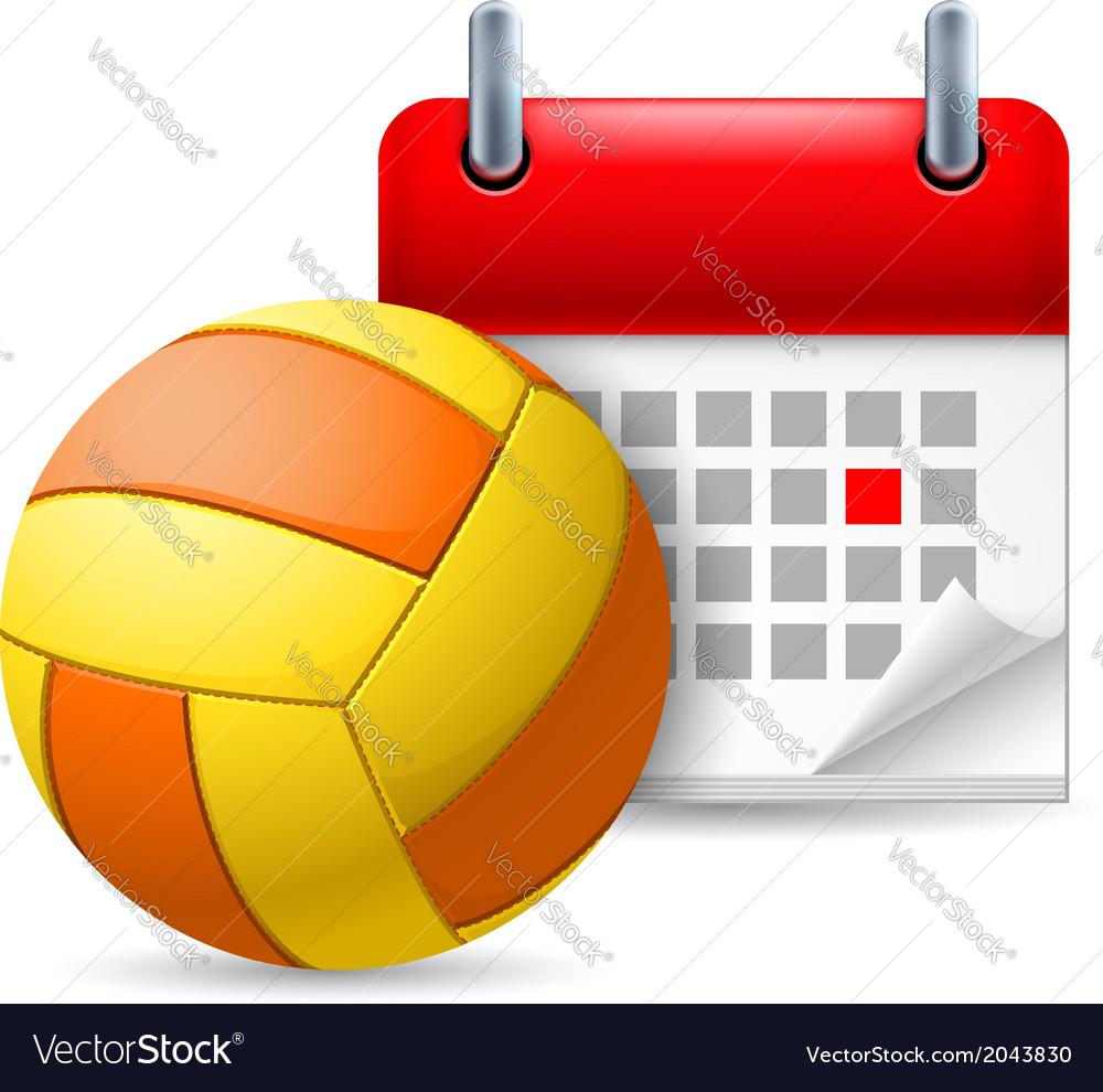 Golf ball and calendar vector | Price: 1 Credit (USD $1)
