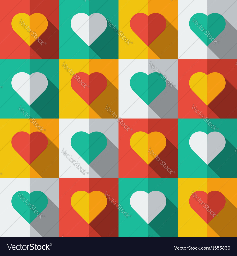 Hearts in flat icon style vector | Price: 1 Credit (USD $1)