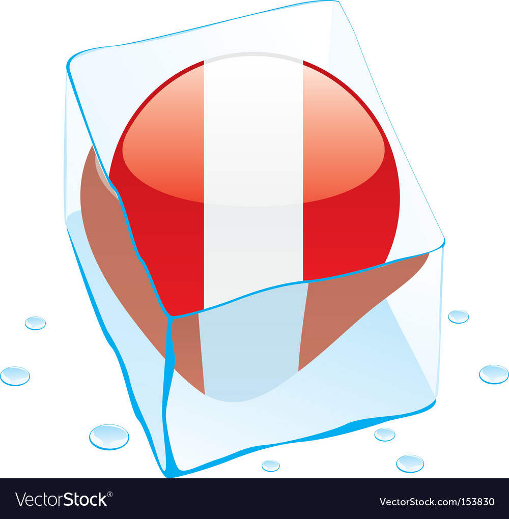 Peru flag vector | Price: 1 Credit (USD $1)