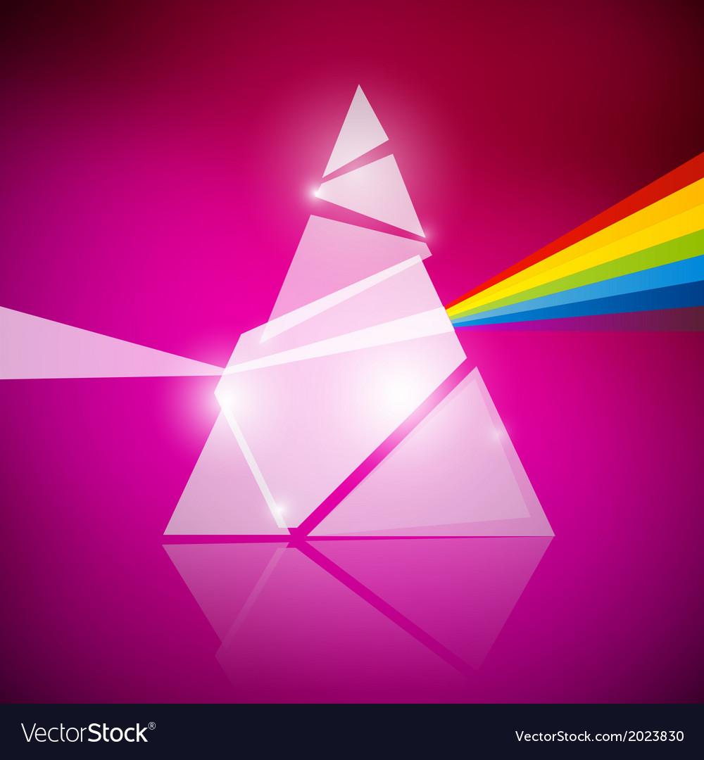 Prism spectrum on pink background vector | Price: 1 Credit (USD $1)