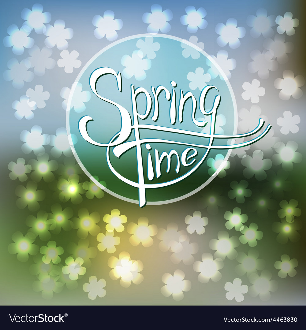 Springtime blurred background vector | Price: 1 Credit (USD $1)