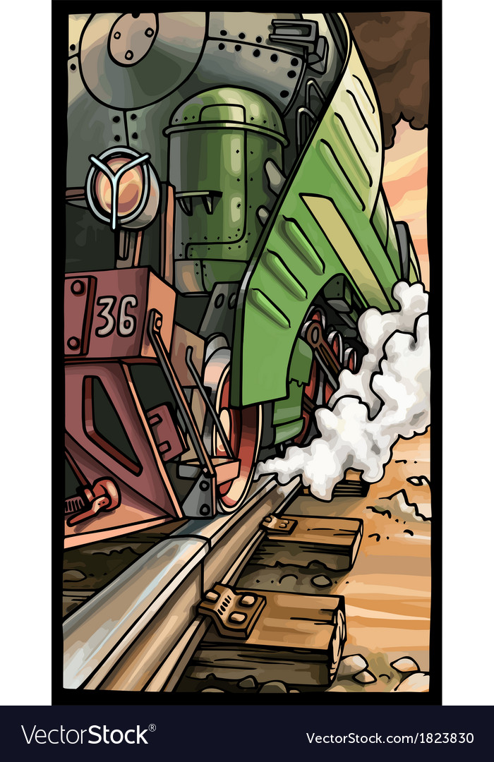 Steam locomotive vector | Price: 5 Credit (USD $5)