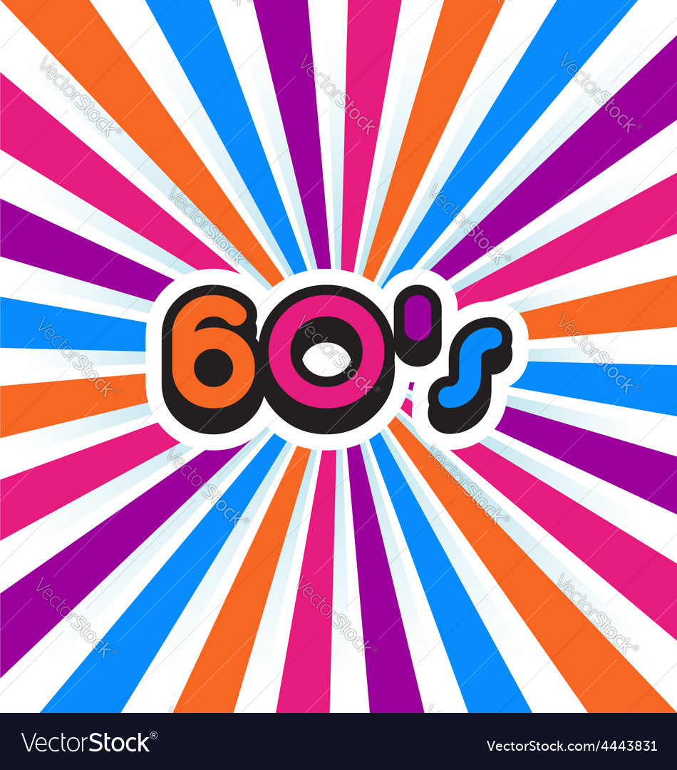 60s party background vector | Price: 1 Credit (USD $1)