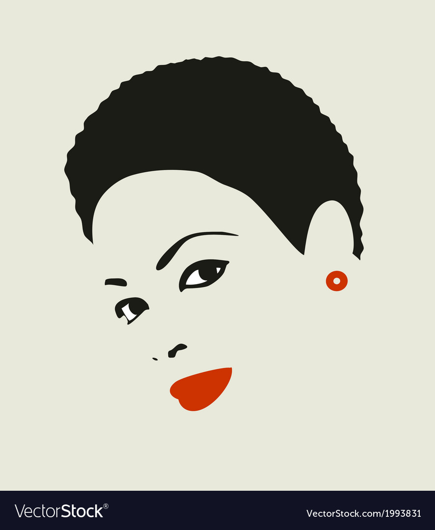 Black hair woman vector | Price: 1 Credit (USD $1)