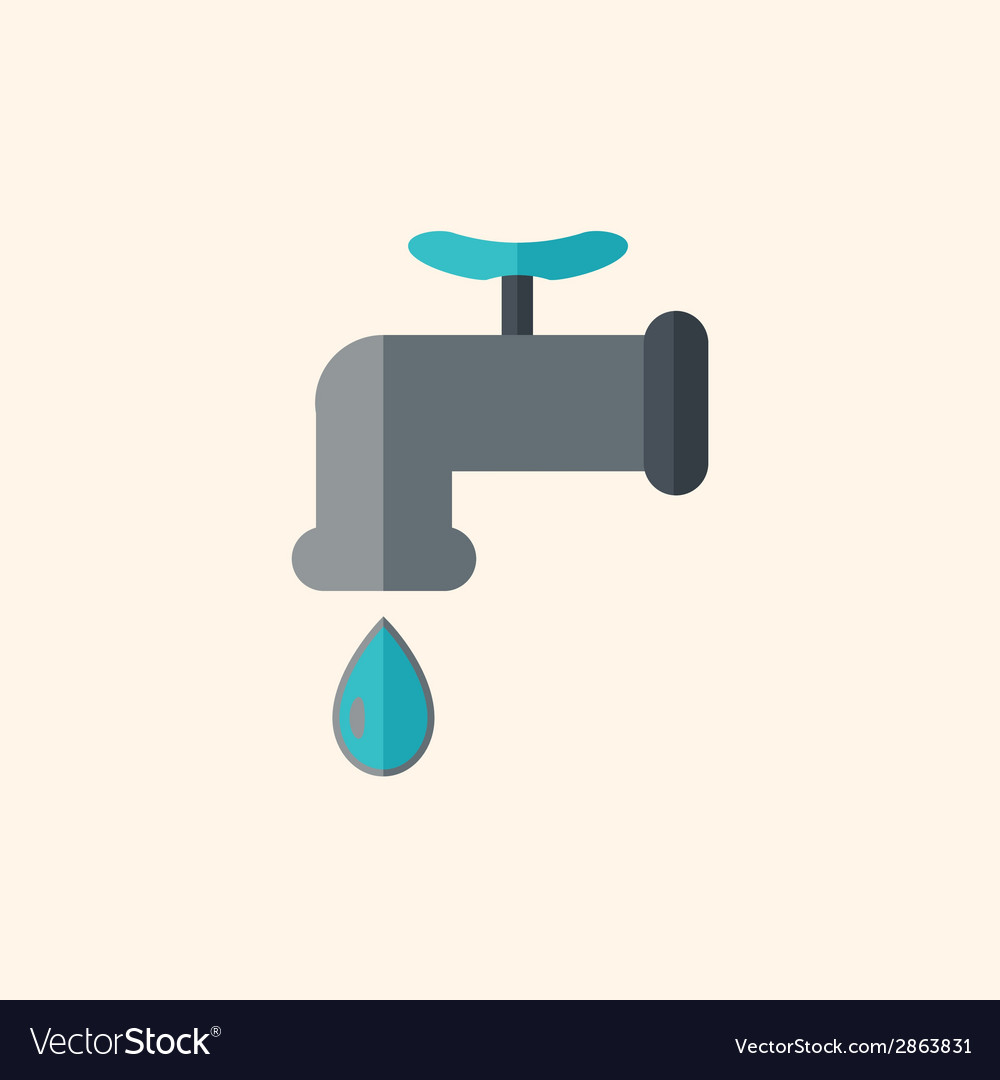 Drip flat icon vector | Price: 1 Credit (USD $1)