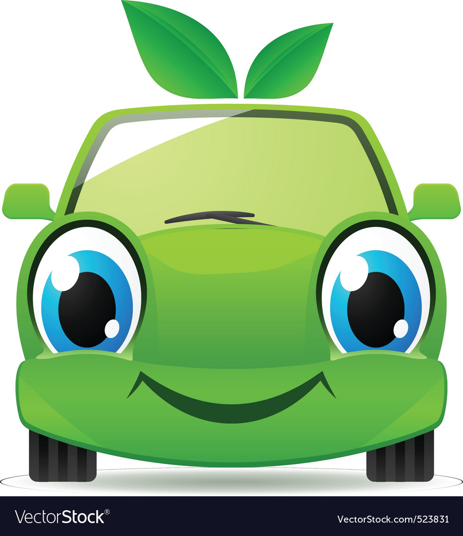 Eco friendly car vector | Price: 1 Credit (USD $1)