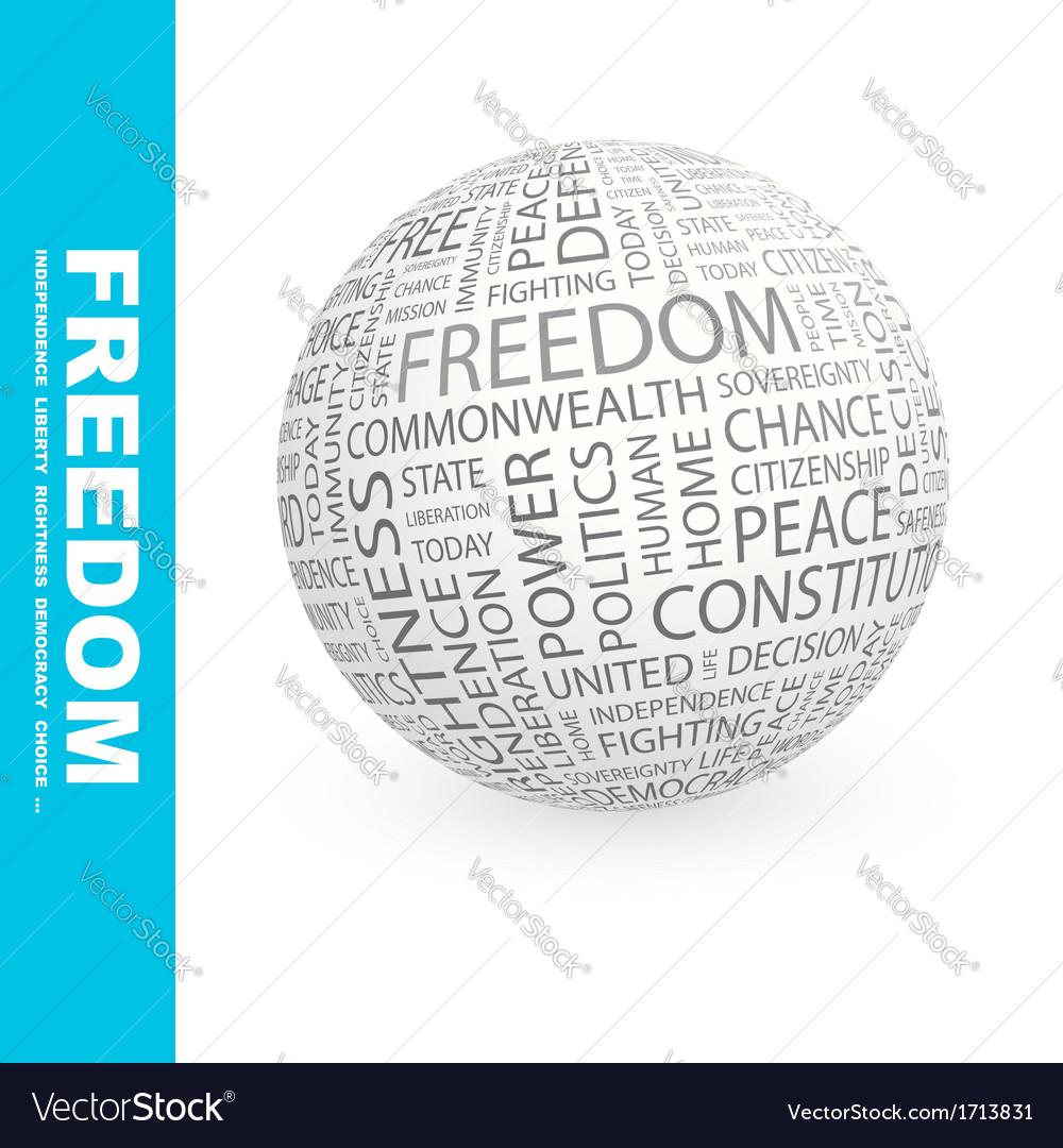 Freedom vector | Price: 1 Credit (USD $1)