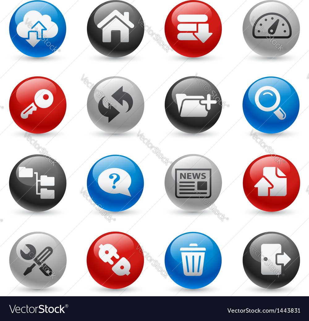 Ftp hosting icons vector | Price: 1 Credit (USD $1)