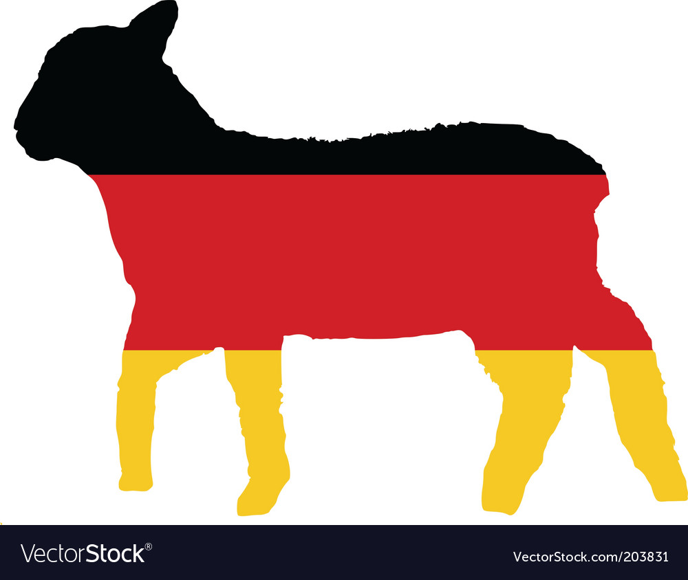 German lamb vector | Price: 1 Credit (USD $1)