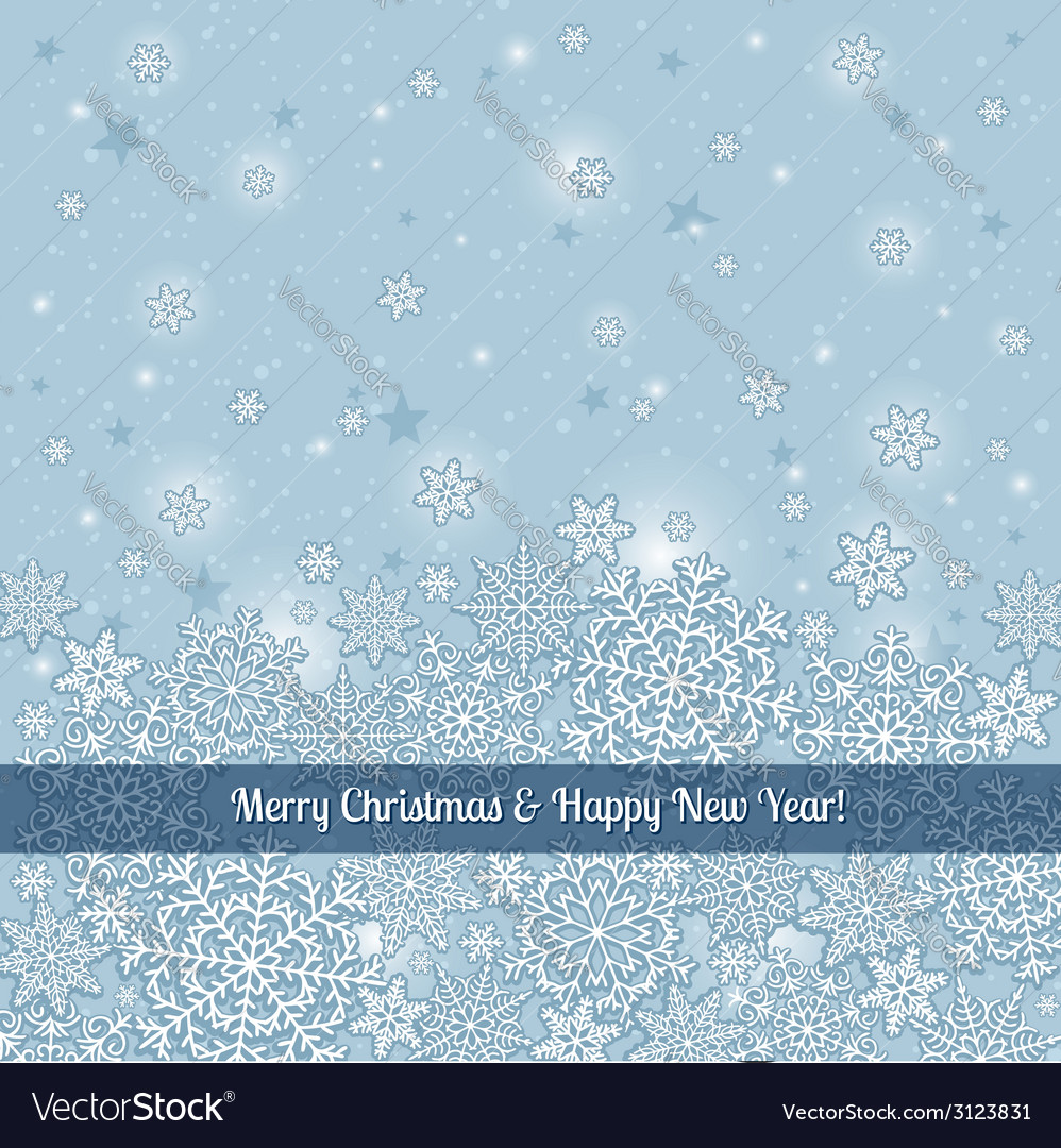Grey background of snowflakes with label vector | Price: 1 Credit (USD $1)