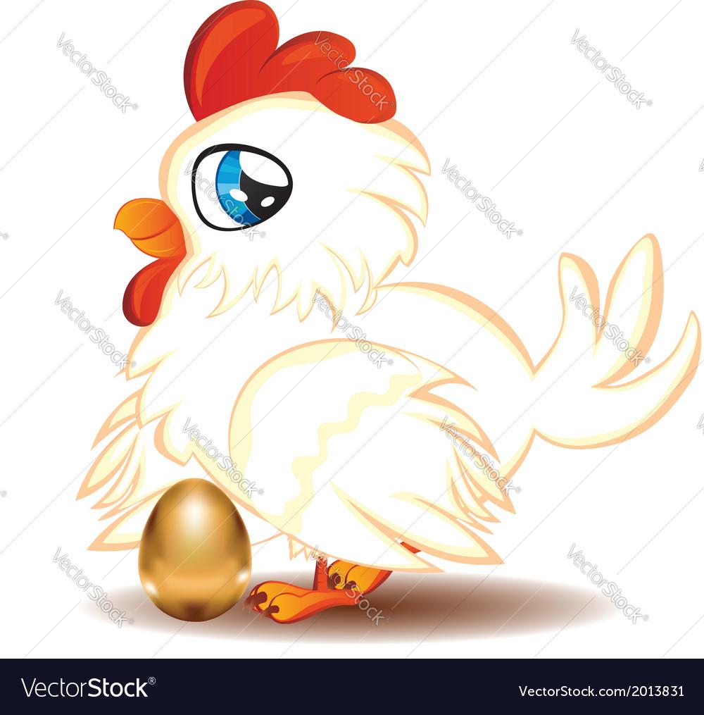 Hen with golden egg2 vector | Price: 1 Credit (USD $1)