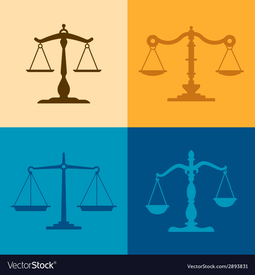 Justice scale silhouettes vector | Price: 1 Credit (USD $1)