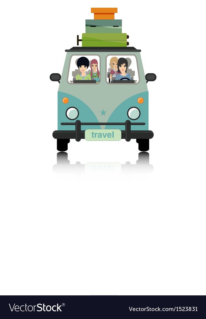Luggage vans vector | Price: 3 Credit (USD $3)