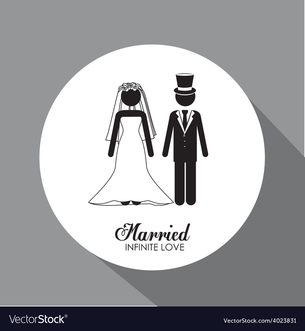 Married couple desing vector   Price: 1 Credit (USD $1)