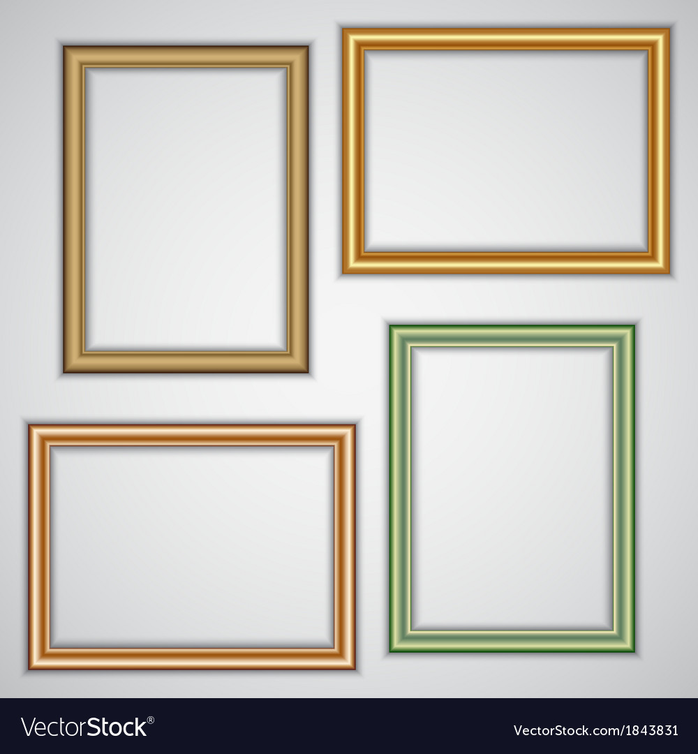Set of realistic plastic portrait frames on the vector | Price: 1 Credit (USD $1)