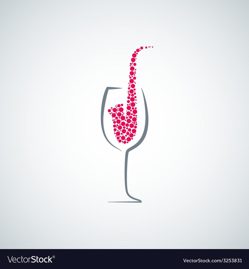 Wine glass jazz concept background vector | Price: 1 Credit (USD $1)