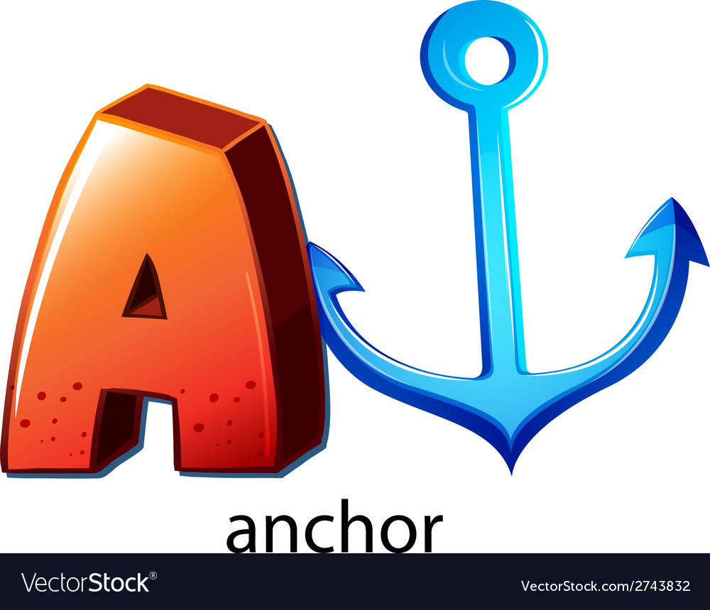 A letter a for anchor vector | Price: 1 Credit (USD $1)