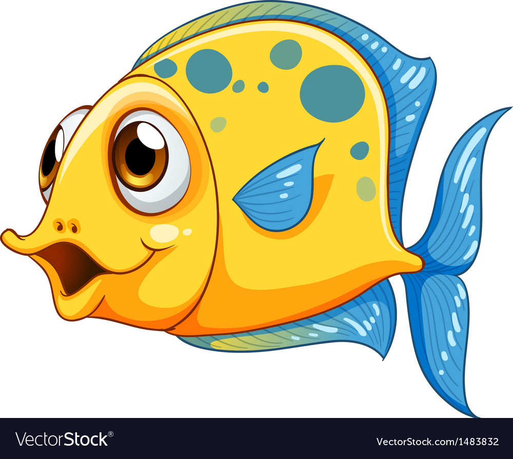 A small yellow fish vector | Price: 1 Credit (USD $1)